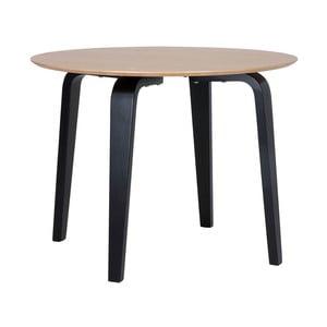 Hnedý jedálenský stôl s čiernym podnožím sømcasa Nora, ø 100 cm