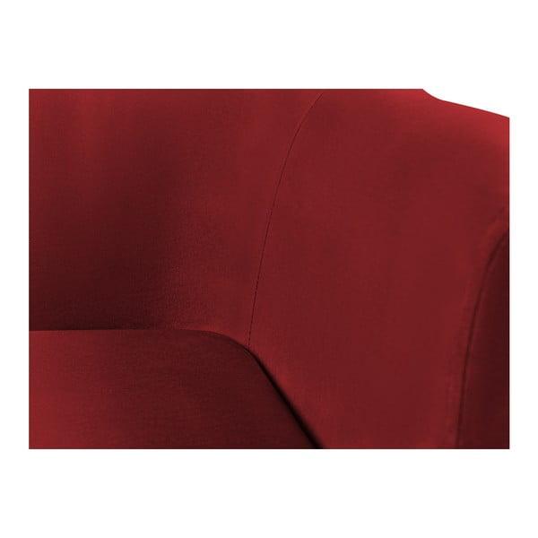 Červená trojmiestna pohovka Kooko Home Glam