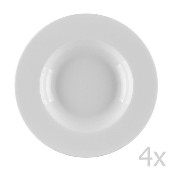 Sada 4 porcelánových polievkových tanierov Sola Lunasol, 22cm