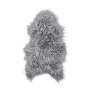 Sivá ovčia kožušina s dlhým vlasom Arctic Fur Ptelja, 100 × 55 cm