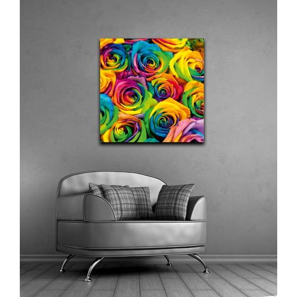 Obraz Dúhové ruže, 60x60 cm