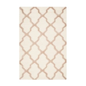 Vlnený koberec Ava White Beige, 121x182 cm