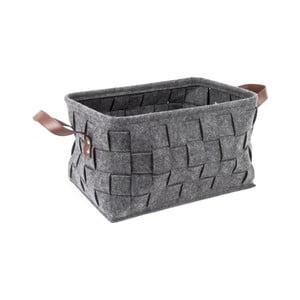 Sivý úložný košík Present Time Storage