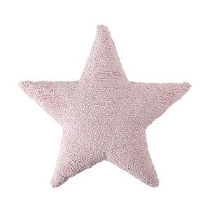 Ružový bavlnený ručne vyrobený vankúš Lorena Canals Star, 54 x 54 cm