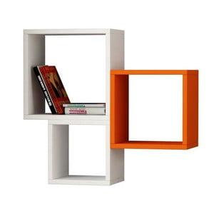 Sada 3 políc Kutugen White/Orange/White