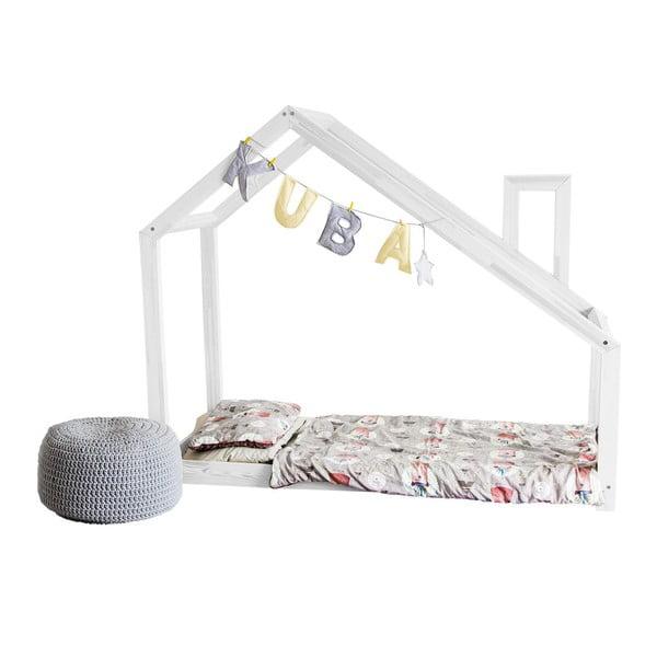 Detská biela posteľ s vyvýšenými nohami Benlemi Deny, 90x180cm, výška nôh 20cm