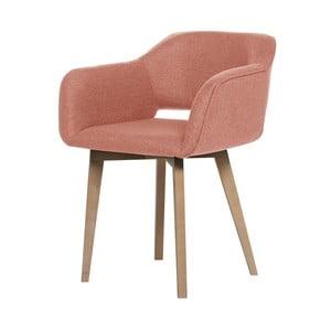 Broskyňovooranžová jedálenská stolička My Pop Design Oldenburg