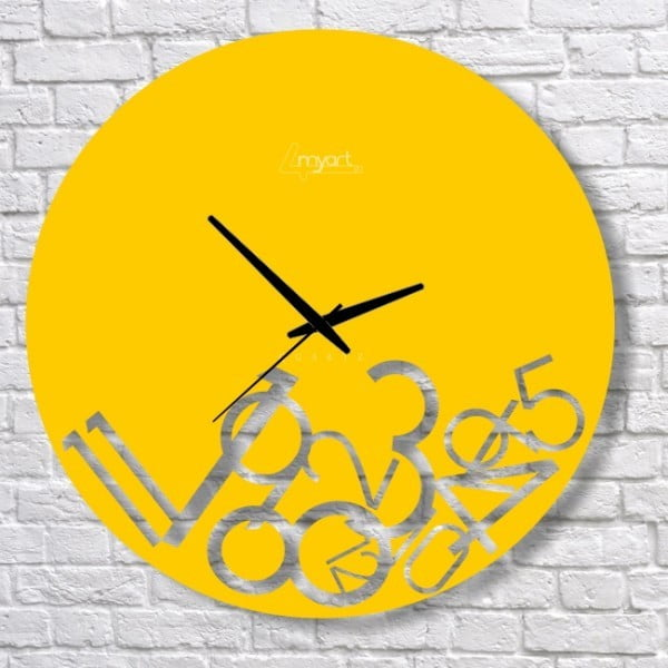 Nástenné hodiny Yellow Confusion