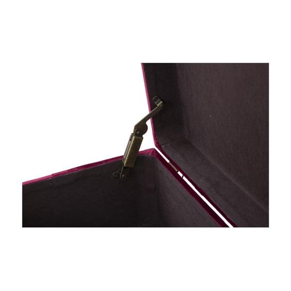 Set lavice a podnožky s úložným priestorom ve vínovočervenej farbe Mauro Ferretti Blam