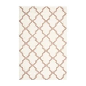 Vlnený koberec Ava White Beige, 152x243 cm