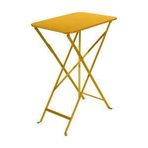 Žltý záhradný stolík Fermob Bistro, 37×57 cm