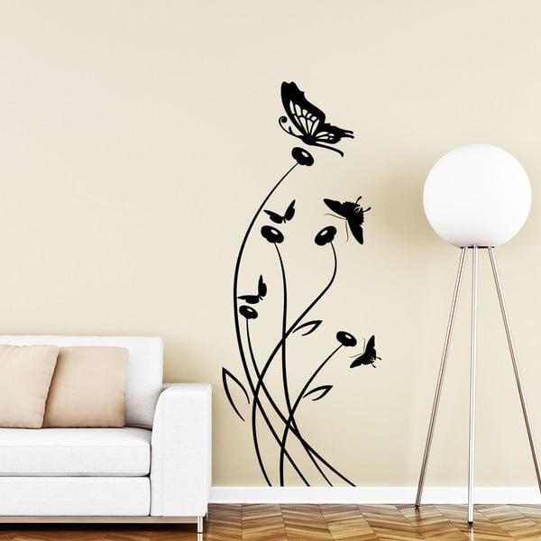 Samolepka Ambiance Butterflies and Flower