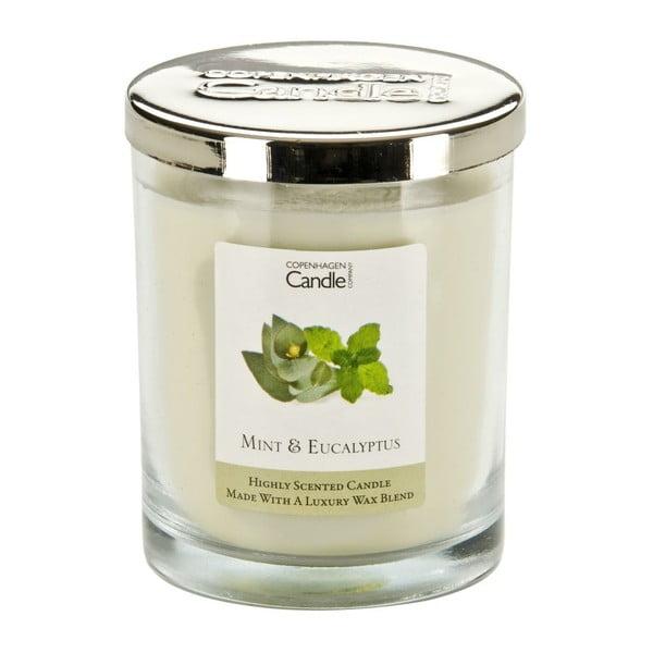Aromatická sviečka Copenhagen Candles Mint & Eucalyptus, doba horenia 40hodín