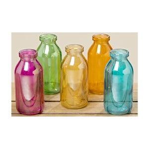 Sada 5 sklenených váz Boltze Kerstin