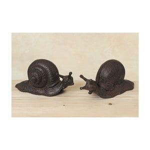 Sada 2 dekoratívnych slimákov Snail