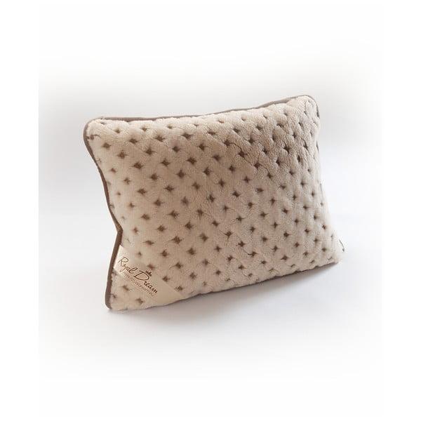 Vlnený hnedý vankúš Royal Dream Camel Dots, 40×70 cm