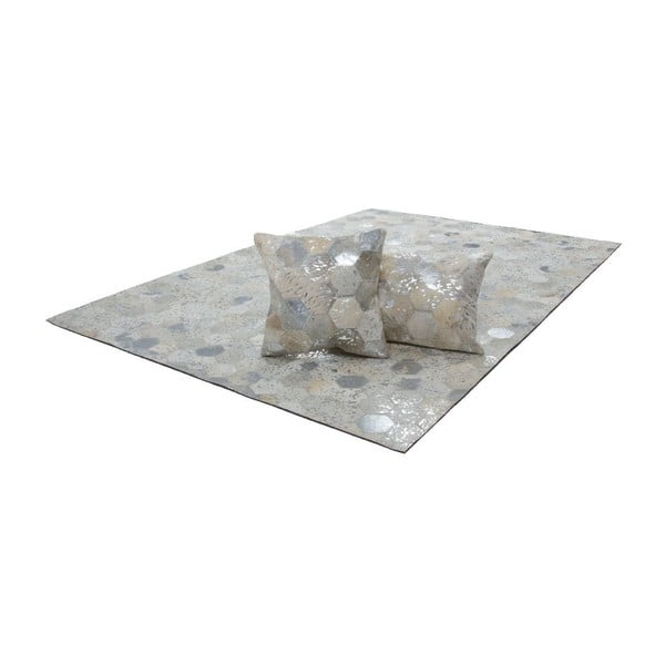 Koberec z pravej kože Dazzle 400 Light, 160x230 cm