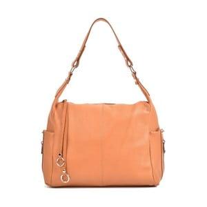 Koňakovohnedá kožená kabelka Mangotti Bags Claudia