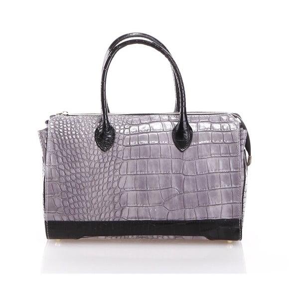 Kožená kabelka Livie, sivá