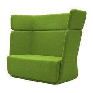 Zelené kreslo Softline Basket Felt Melange Green