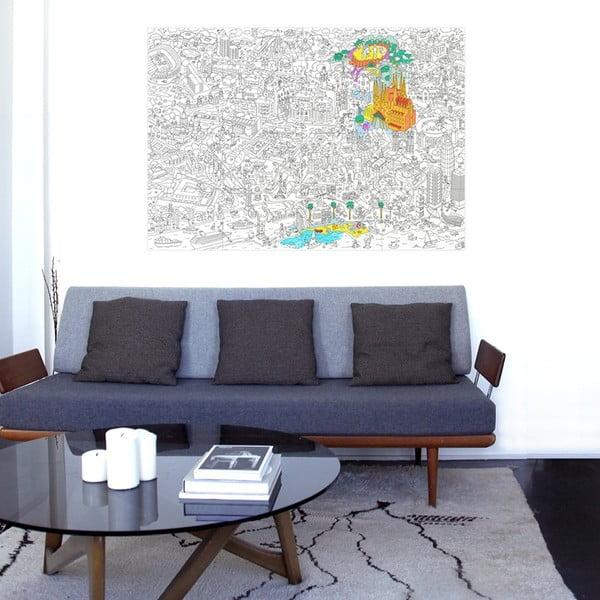 Maľovanka OMY Barcelona (70 x 100 cm)