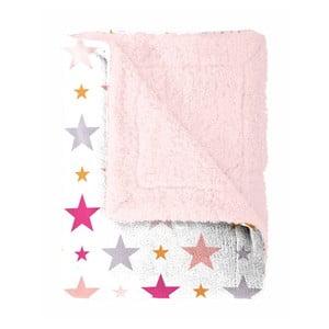 Detský pléd Home Collection Starry pink, ružové hviezdičky, 130x170 cm