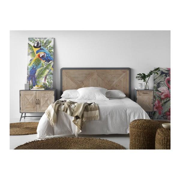 Drevené posteľové čelo Geese Rustico Natura, 120 × 110 cm
