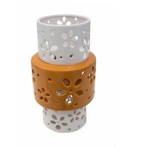 Oranžovo-biela porcelánová váza Mauro Ferretti Ring