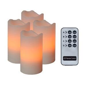 Sada 4 oranžových LED sviečok Best Season Wachs