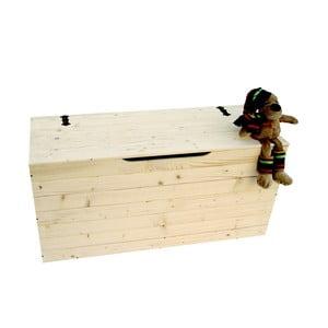 Truhla z bukového dreva Valdomo Settle, dĺžka 73 cm