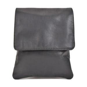 Čierna kožená kabelka Sofia Cardoni Messa