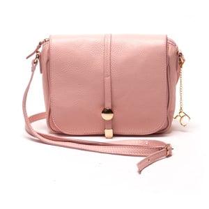 Kožená kabelka Ariela, ružová