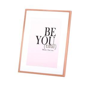 Fotorám v medenej farbe Be You, 13x18 cm