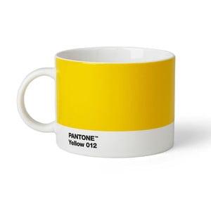 Žltý hrnček na čaj Pantone 012, 475 ml