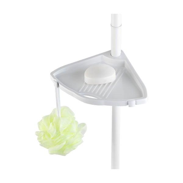 Teleskopická polica do sprchy Compact, biela