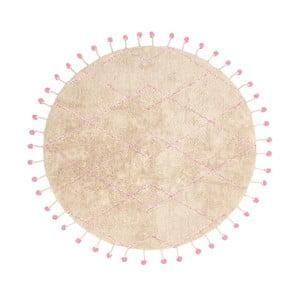 Bavlnený koberec s ružovými detailmi Nattiot Tanvi