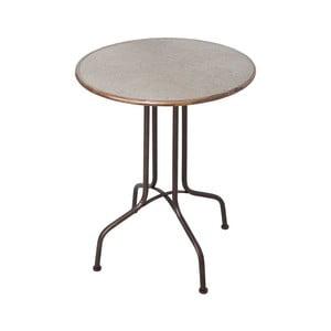 Odkladací stolík zo zinku Antic Line, ø 60 cm