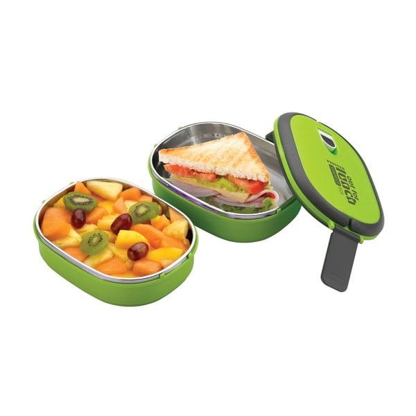 Zelená dvojitá miska na obed Pioneer Lunchbox
