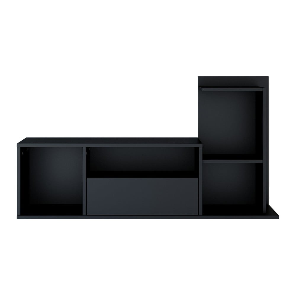 Černý TV stolík Sumatra, šírka 120 cm