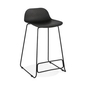 Čierna barová stolička Kokoon Slade, výška 85 cm