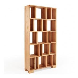 Knižnica z jelšového dreva Mazzivo R102