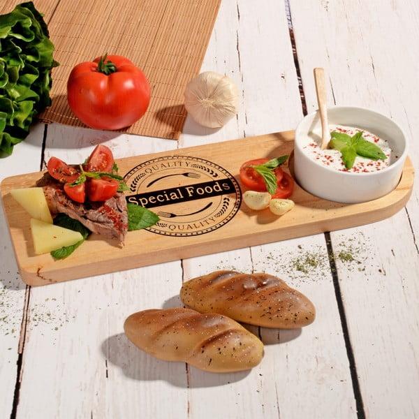 Bambusová doštička s miskou na dip Dish Lux