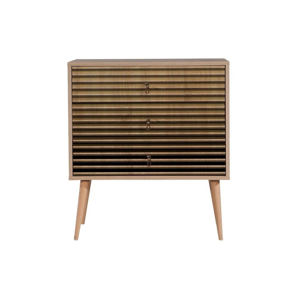Komoda s 3 zásuvkami Trio Intim, 80 × 90 cm