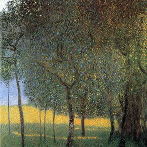 Reprodukcia obrazu Gustav Klimt - Fruit Trees, 30x30cm