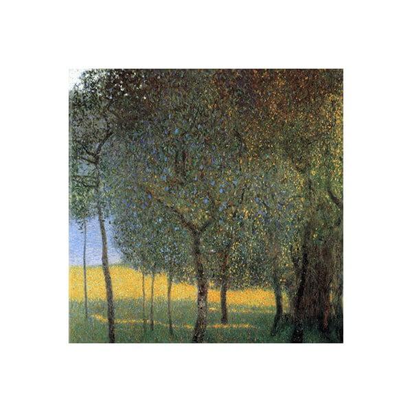 Obraz Gustav Klimt - Fruit Trees, 60x60 cm