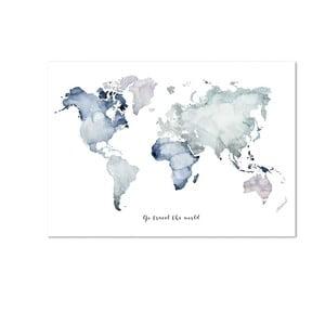 Plagát Leo La Douce Go Travel The World, 29,7 x 42cm