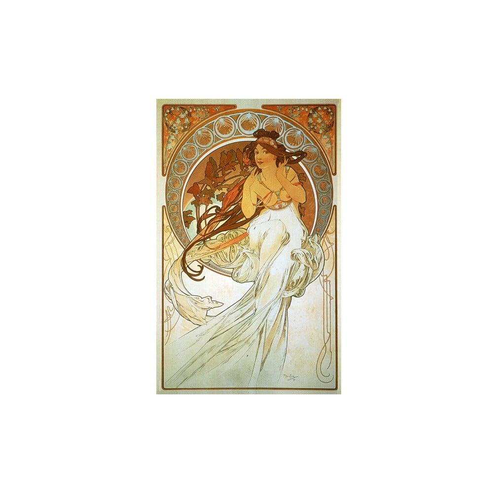 Reprodukcia obrazu Alfons Mucha Music, 40 × 60 cm