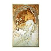 Reprodukcia obrazu Alfons Mucha Music, 40×60cm