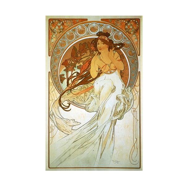 Obraz Alfons Mucha Music, 50x80 cm