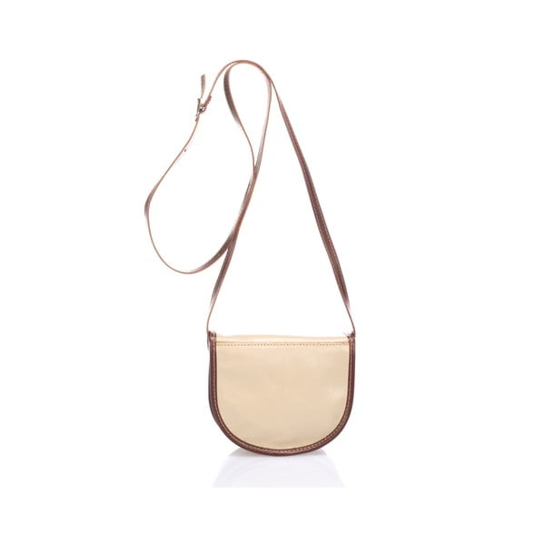 Hnedosivá kožená kabelka Giorgio Costa Calista